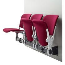 Sedute su barra in acciaio / 4 posti / da interno