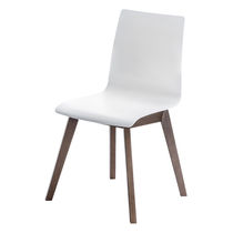 Sedia visitatore moderna / imbottita / in plastica / in legno