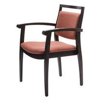 Sedia visitatore moderna / in compensato stampato / in faggio / con braccioli