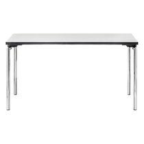 Tavolo moderno / in metallo / rettangolare / per edifici pubblici