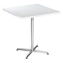 Tavolo da bistrot moderno / in acciaio / rotondo / quadrato