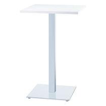 Tavolo alto moderno / in acciaio / quadrato / professionale