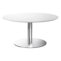 Tavolo da bistrot moderno / in acciaio cromato / in metallo cromato / rotondo