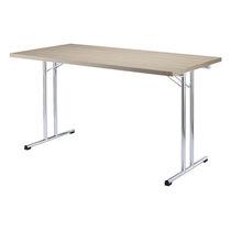 Tavolo moderno / in acciaio / rettangolare / per edifici pubblici