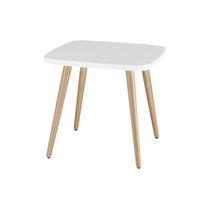 Tavolo d'appoggio moderno / in legno / rotondo / per ristorante