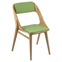 Sedia visitatore moderna / in tessuto / in legno
