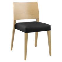 Sedia moderna / imbottita / impilabile / in legno