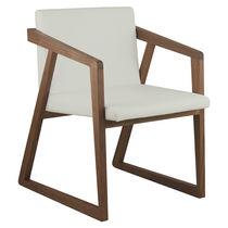 Poltrona moderna / in legno / a slitta / per uso contract