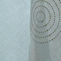 Tessuto per tende / a motivi geometrici / in lino