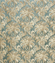 Tessuto da tappezzeria / a motivi / in lino / in seta