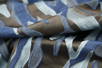 Tessuto da tappezzeria / a motivi / in seta / Jacquard