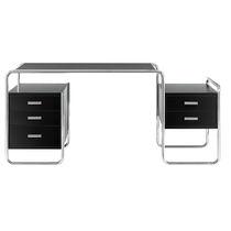Scrivania in legno / in acciaio / design Bauhaus / professionale