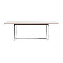 Tavolo moderno / in acciaio / in legno massiccio / in HPL