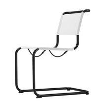 Sedia da giardino moderna / con braccioli / cantilever / in acciaio