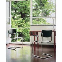 Sedia visitatore moderna / imbottita / impilabile / con braccioli