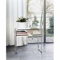 Tavolino estraibile design Bauhaus / in legno / in vetro / in metallo