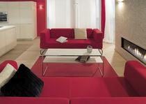 Tavolino basso design Bauhaus / in legno / in metallo / rettangolare