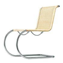 Sedia design Bauhaus / cantilever / in acciaio / in pelle