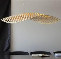 Lampada a sospensione / design originale / in bambù / da interno