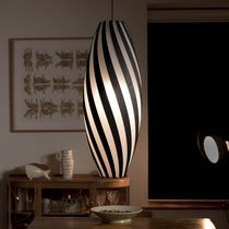 Lampada a sospensione / moderna / in policarbonato / in bambù