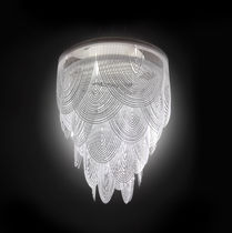 Lampadario design originale / in Opalflex® / a incandescenza