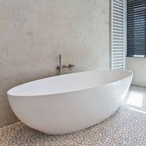 Vasca da bagno ad isola / ovale / in Solid Surface / doppia