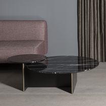 Tavolino basso moderno / in MDF laccato / in marmo / rotondo