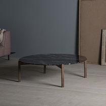 Tavolino basso moderno / in legno massiccio / in marmo / circolare