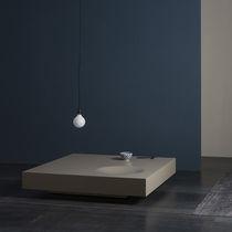 Tavolino basso moderno / in MDF laccato / quadrato / da interno