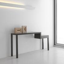 Consolle moderna / in legno laccato / rettangolare / per uso contract