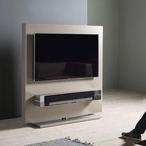 Mobile porta TV moderno / girevole / in MDF laccato / in acciaio inossidabile