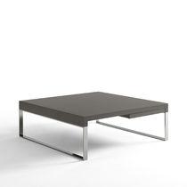 Tavolino basso moderno / in quercia / in MDF laccato / in metallo