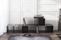 Scaffale modulare / design industriale / in acciaio / per dischi in vinile