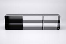 Scaffale modulare / design industriale / in acciaio / su misura
