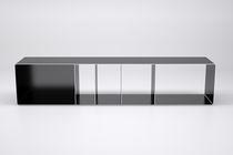 Scaffale basso / design industriale / in acciaio / per dischi in vinile
