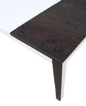 Tavolo design originale / in legno massiccio / in MDF laccato / rettangolare