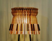 Lampada da terra / design originale / in ferro / in legno