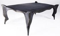 Tavolo design nuovo barocco / in quercia / in metallo patinato / rettangolare
