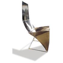Sedia design originale / con schienale alto / con cuscino rimovibile / cantilever