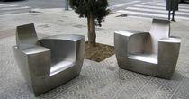 Poltrona design originale / in acciaio inossidabile / club / da giardino