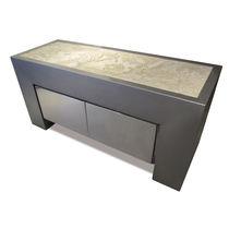 Credenza design originale / in acciaio inossidabile / in pietra naturale / su misura