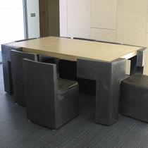Set tavolo e sedia design originale / in legno / in metallo / da interno