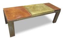 Panca design originale / in quercia / in acciaio / in ottone