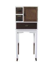 Cassettone con piedi alti / design originale / in legno laccato / su misura