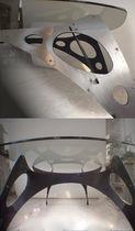 Tavolo design originale / in vetro / in metallo / ovale