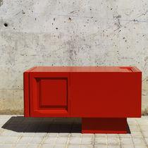 Mobile TV moderno / lowboard / su misura / in legno laccato