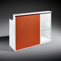Banco reception modulare / in legno / in laminato
