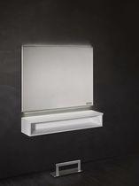 Mobile da toeletta moderno / in alluminio / da parete / per parrucchiere