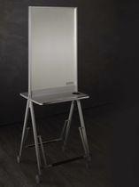 Mobile da toeletta moderno / in legno / per parrucchiere / 2 posti