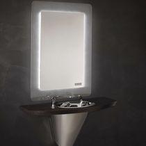 Mobile da toeletta moderno / in acciaio inossidabile / da parete / per parrucchiere